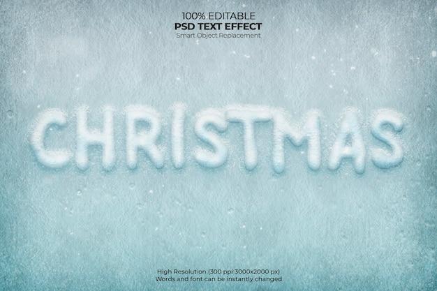 Weihnachtsfrost-texteffekt