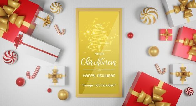 Weihnachtsgeschenk geben konzept in 3d-rendering