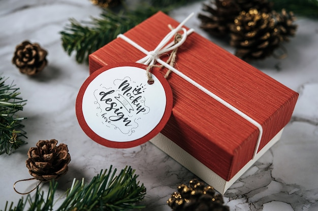 Weihnachtsgeschenk-tag
