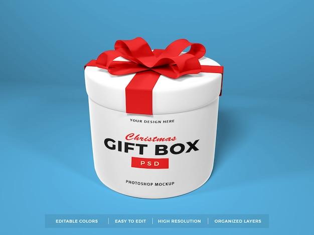 Weihnachtsgeschenkbox mit bandmodell