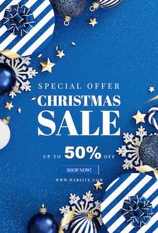 Weihnachtskartenmodell mit dekoration