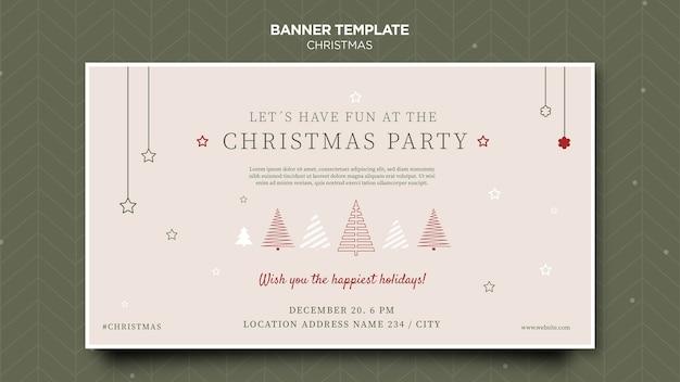 Weihnachtskonzept-bannerschablone
