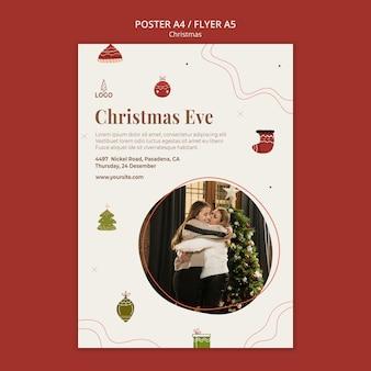 Weihnachtskonzept flyer vorlage
