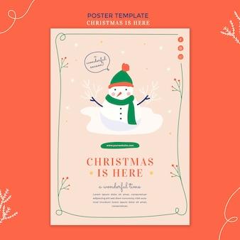 Weihnachtskonzeptplakatschablone Kostenlosen PSD