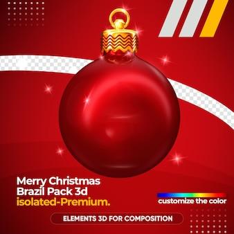 Weihnachtskugel für komposition isoliert