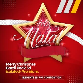 Weihnachtslogo für komposition isoliert