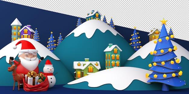 Weihnachtsmann in schlittenillustration