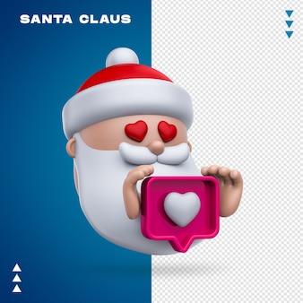 Weihnachtsmann wie 3d-rendering isoliert