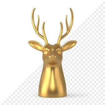 Weihnachtsrentier 3d-symbol