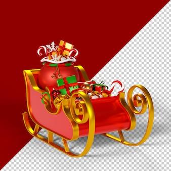 Weihnachtsschmuck isoliert 3d render
