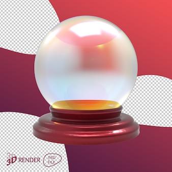 Weihnachtsschneeball 3d render isoliert
