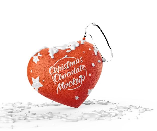 Weihnachtsschokoladenmodell isoliert