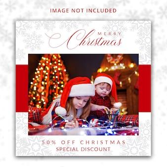 Weihnachtssocial media-beitragsschablone