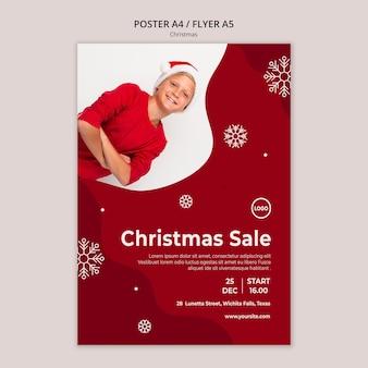 Weihnachtsverkauf flyer vorlage