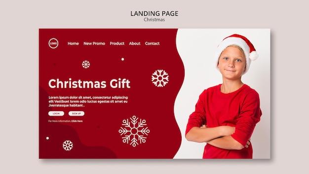 Weihnachtsverkauf landing page Premium PSD