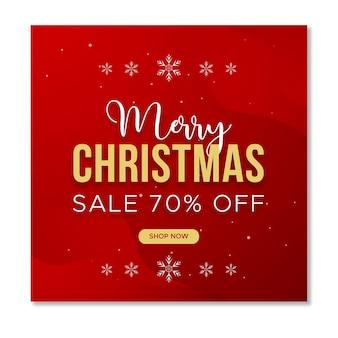 Weihnachtsverkauf social media instagram post vorlage