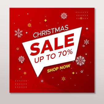 Weihnachtsverkauf social media instagram post