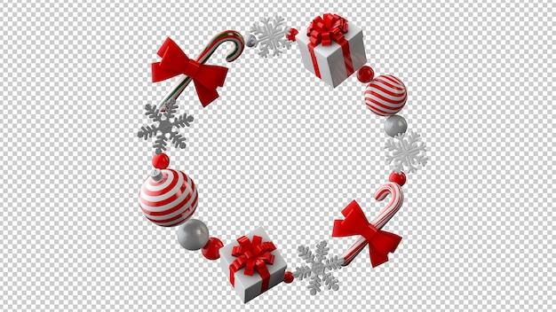 Weihnachtsverkaufskonzept in der 3d-illustration