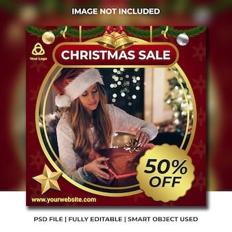 Weihnachtsverkaufspost für instagram
