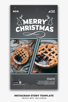 Weihnachtsvorlage social media geschichten für restaurant food menu