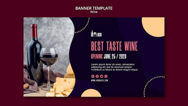 Wein banner vorlage konzept