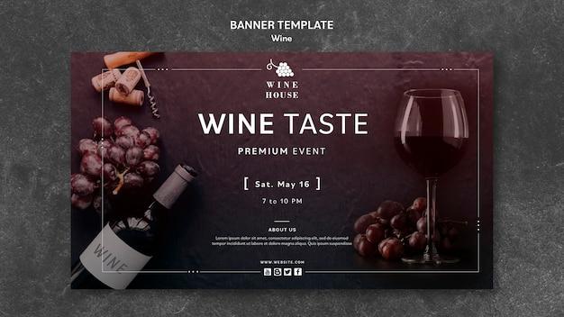 Wein banner vorlage thema