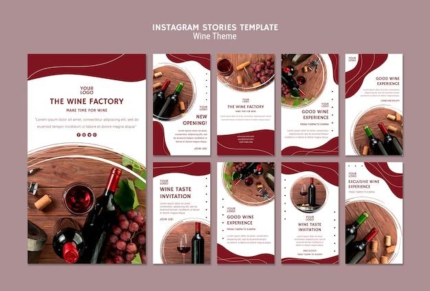 Wein instagram geschichten vorlage