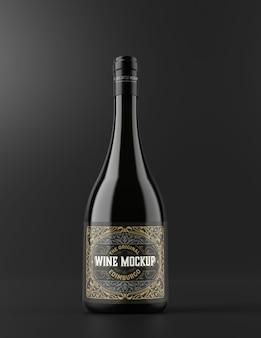 Wein- und glasflaschenmodell isoliert