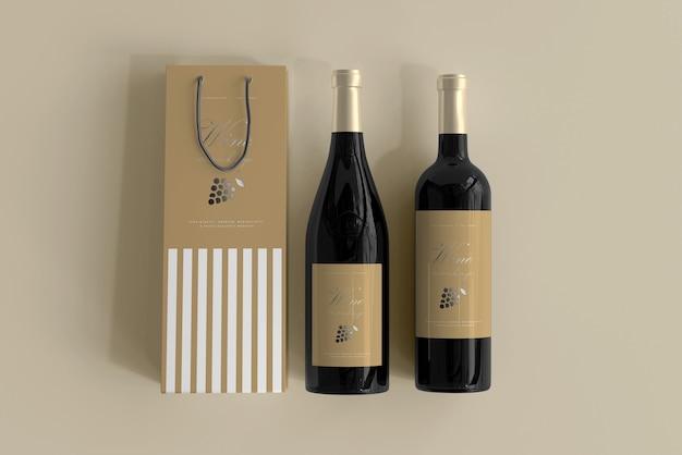 Weinflaschenmodell mit beutel