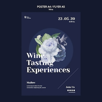 Weinprobe im poster-stil