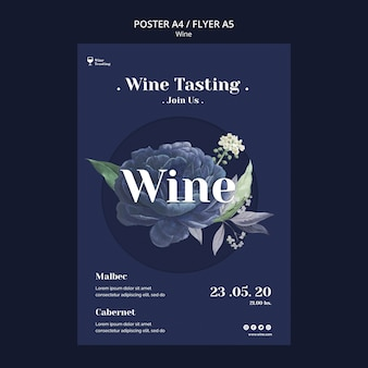Weinprobe poster stil
