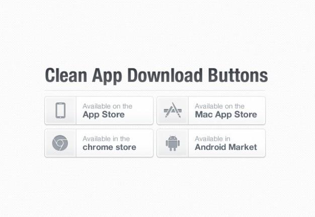 Weiß download-buttons psd material