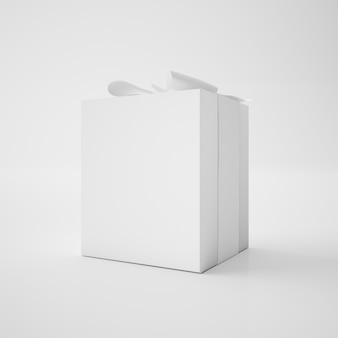 Weiße box mit band
