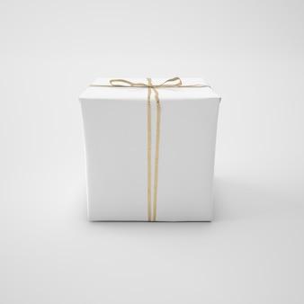 Weiße box mit schnur