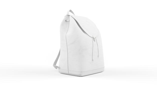Weiße frauentasche oder rucksack