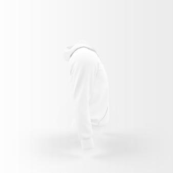 Weiße jacke schwimmt auf weiß