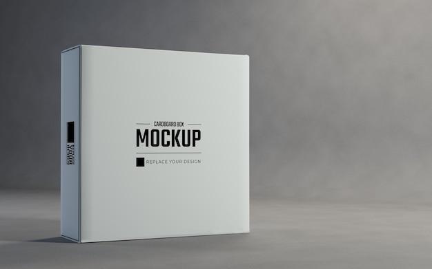Weiße kartons display verpackung mockup design
