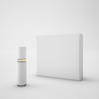Weiße packung und lippenstift