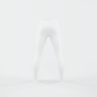 Weiße silhouette der hose