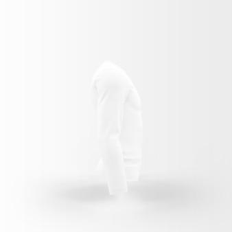 Weiße silhouette des t-shirts