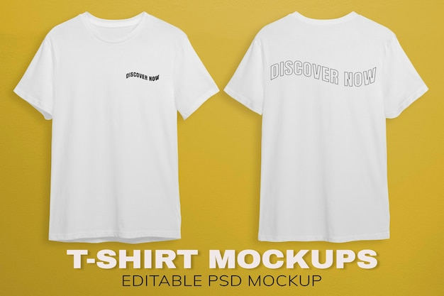 Weiße t-shirts modellentwurf