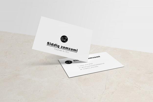 Weiße visitenkarte mit