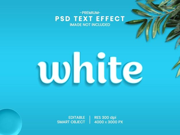 Weißer 3d psd texteffektartgenerator