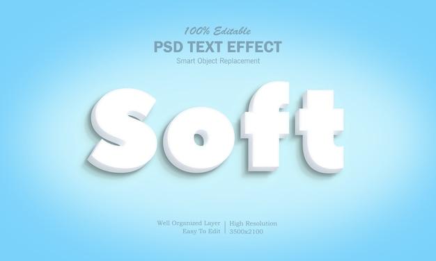 Weißer 3d-softtext-effekt