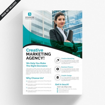 Weißer business-flyer