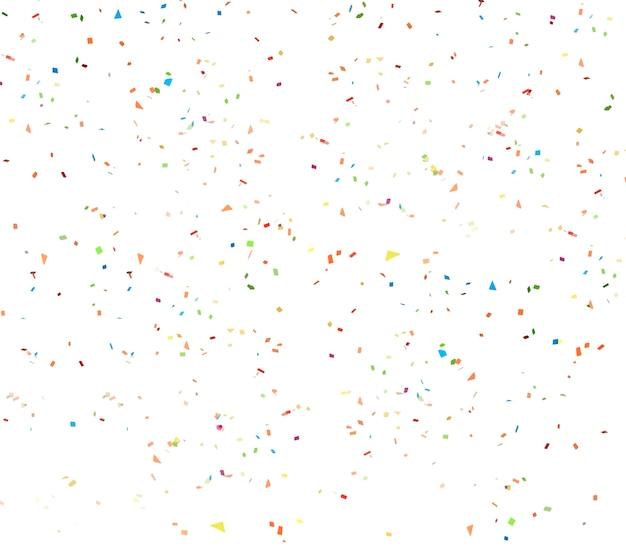 Weißer konfettihintergrund