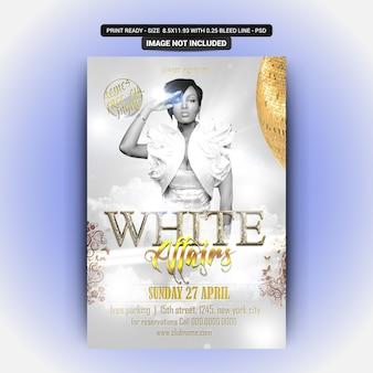 Weißer mädchen-party-flyer