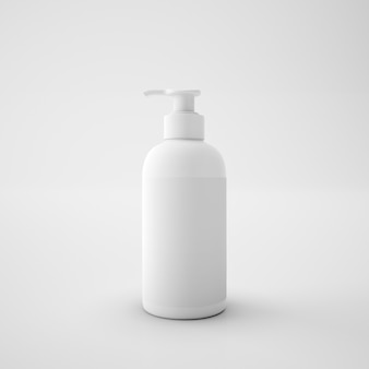 Weißer plastikseifenbehälter