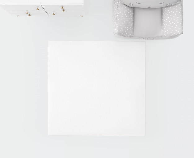 Weißer teppich und weicher sitz
