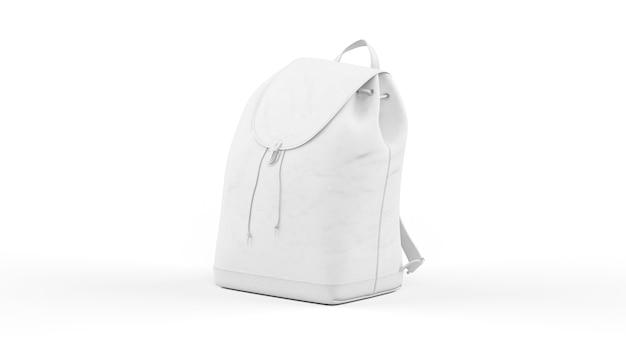 Weißer weiblicher rucksack isoliert
